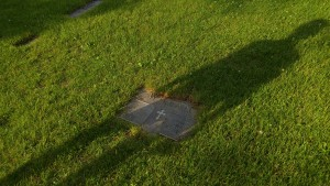 shadow on Willans grave